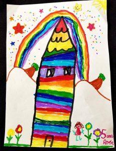 dessin enfantin d'une maison en espagne