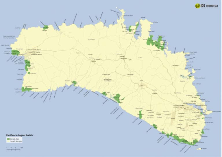 plan delimitation normes de location touristique saisonniere minorque