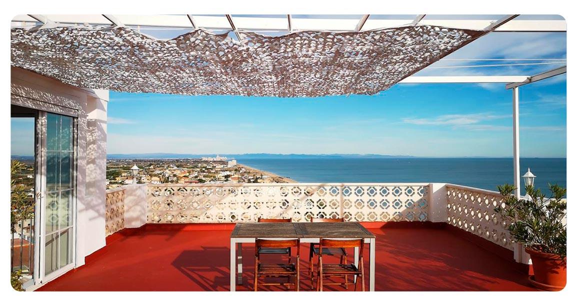 terrasse appartement achete valence spagne cullera