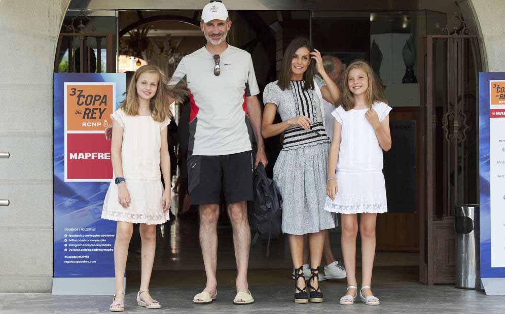 Felipe VI et sa famille