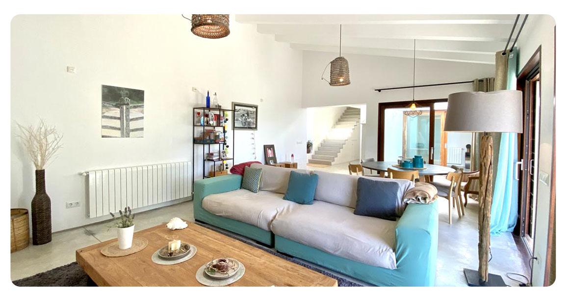 acheter maison contemporain minorque salon