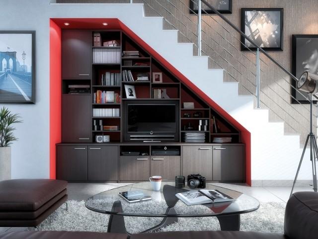 Idées pour combler espace sous escaliers
