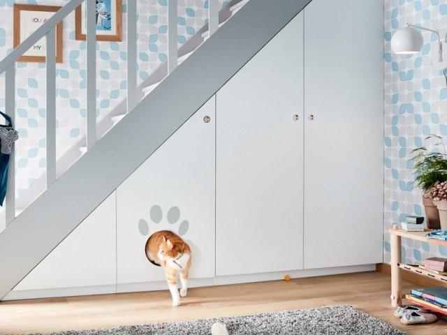 Combler l'espace sous escaliers