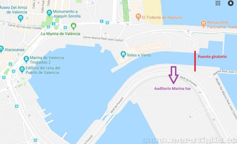 Auditorio Marina Sur à la marina de valencia