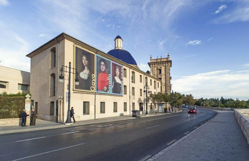 Musée des beaux arts, jardin Turia à Valencia