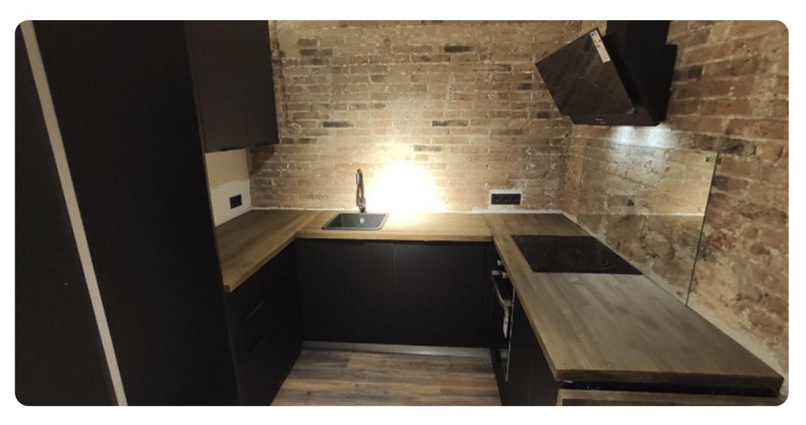 acheter appartement moderne barcelone centre cuisine