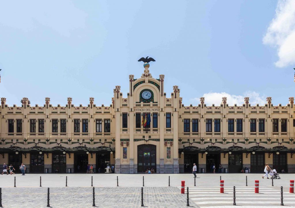 Estacion del norte dans le centre historique de valencia