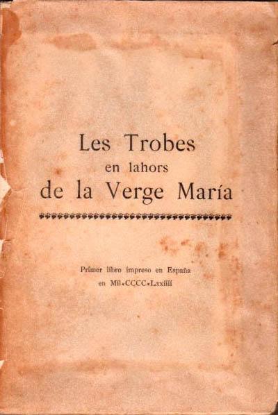Première oeuvre littéraire imprimée à Valencia