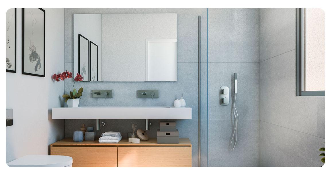 immobilier neuf espagne malaga cabopino salle de bain