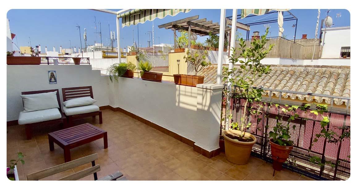 acheter appartement atico seville terrasse vue