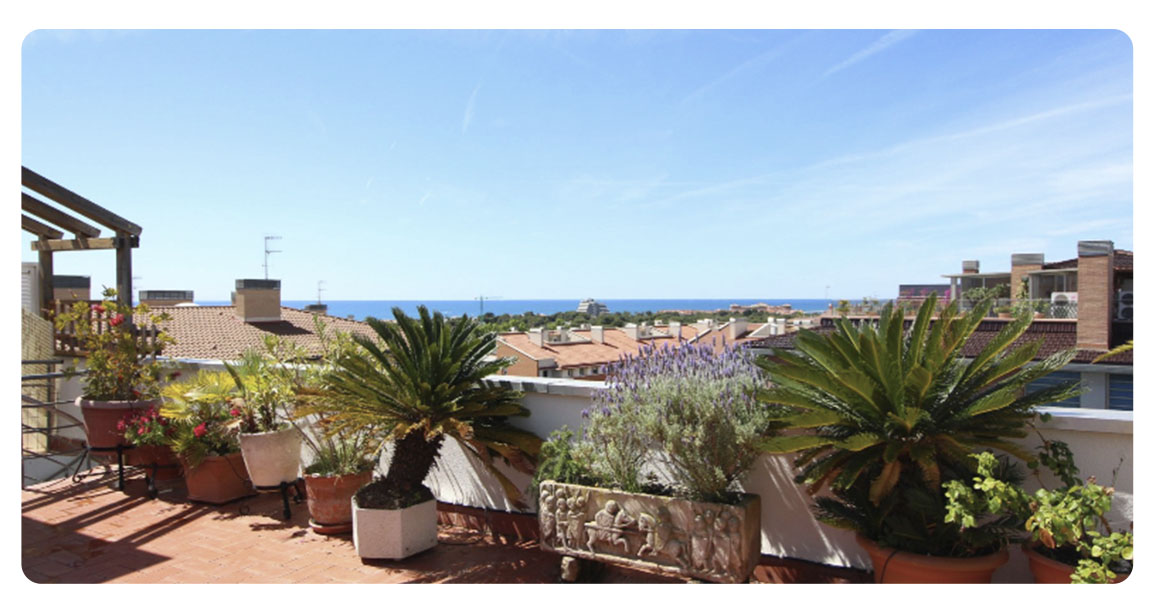 acheter appartement atico sitges canpei terrasse vue