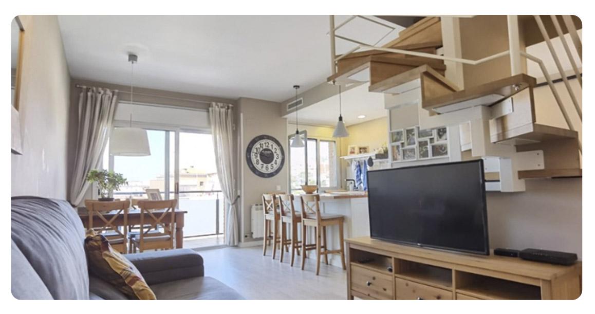 acheter appartement duplex castelldefels canyars salon 2
