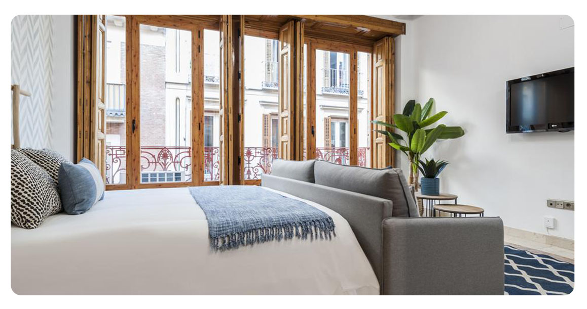 acheter appartement studio madrid plaza santa ana chambre vue