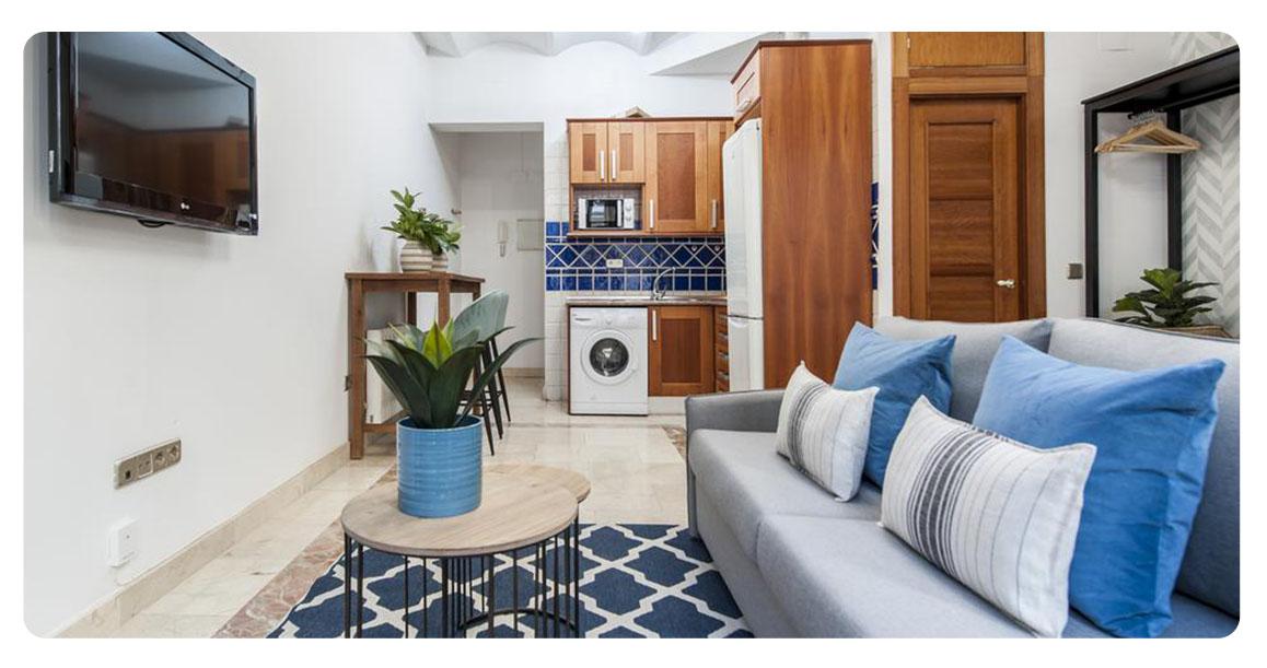 acheter appartement studio madrid plaza santa ana salon