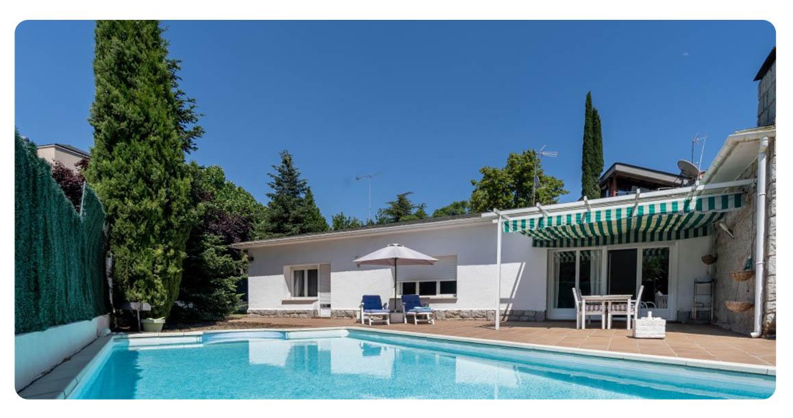 acheter maison villa madrid mirasierra piscine
