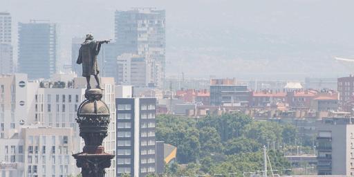 Statue Christophe Colomb Barcelone