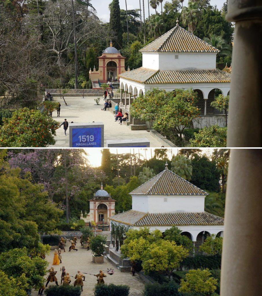 Jardin du palais de l'Alcazar et ceux de Dorne