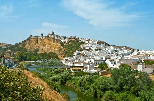 Vue sur le pont et la ville de Arcos de la frontera, CÁDIZ