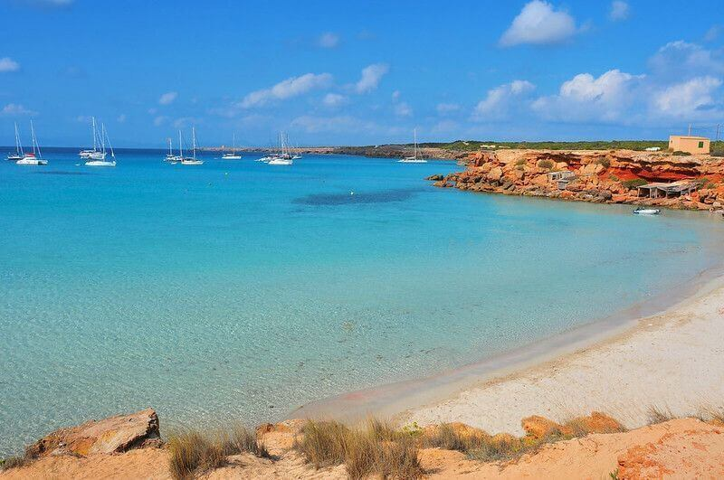 plage Cala saona à Formentera