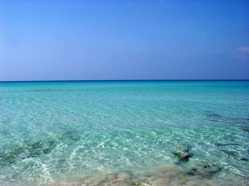 Vue sur une mer translucide