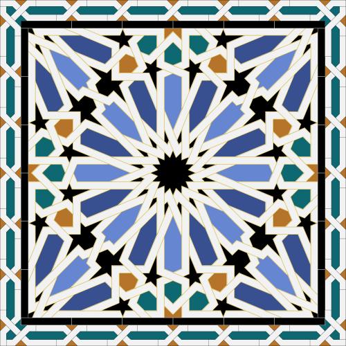 motif d'un azulejo dans le palais de l'Alcazar de Séville