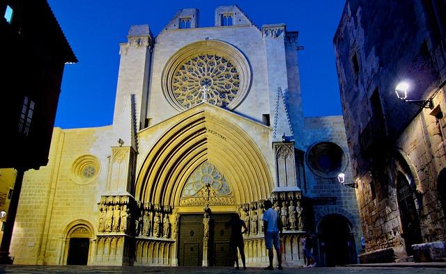 Cathédrale de Tarragone en pleine nuit