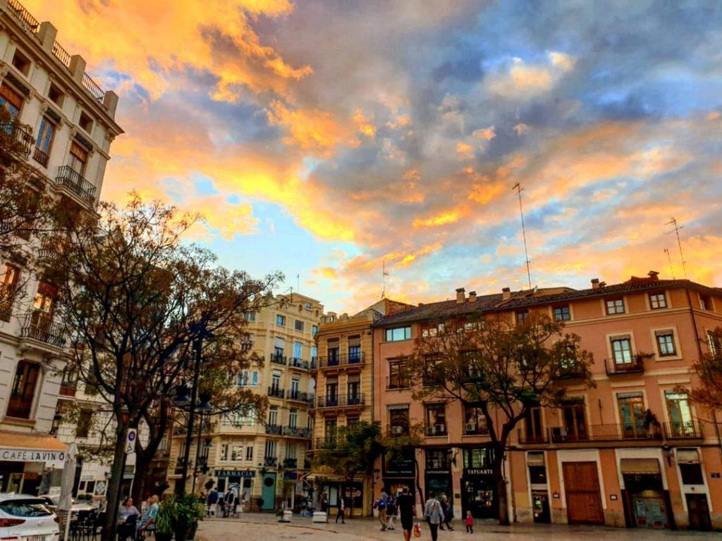 Coucher de soleil sur Valencia