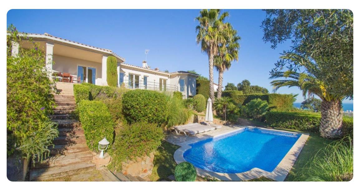 acheter maison grande demeure platja de aro jardin