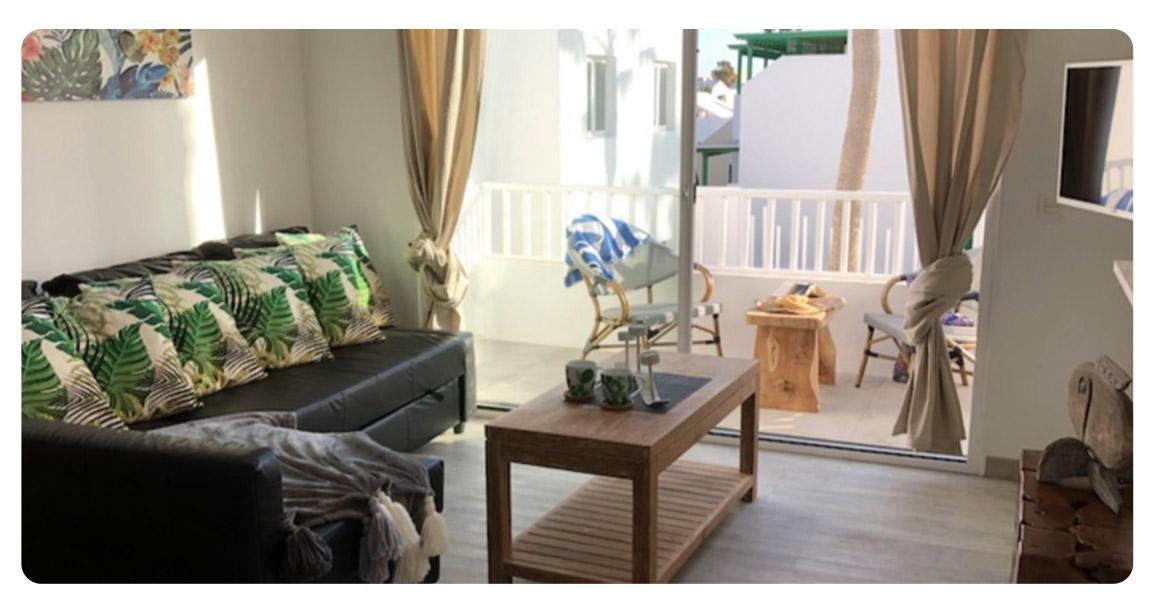 acheter appartement canaries lanzarote salon