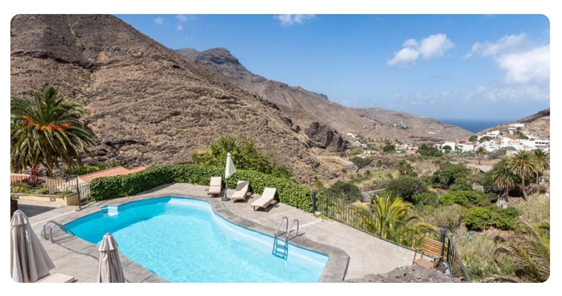 achete maison ville canaries agaete gran canaries piscine vue 2