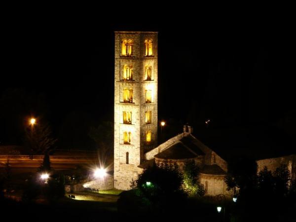 église de nuit de Taull