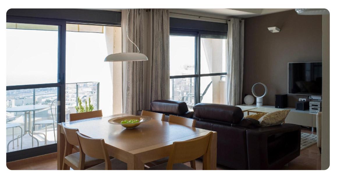 acheter appartement atico duplex roquetas de mar salon