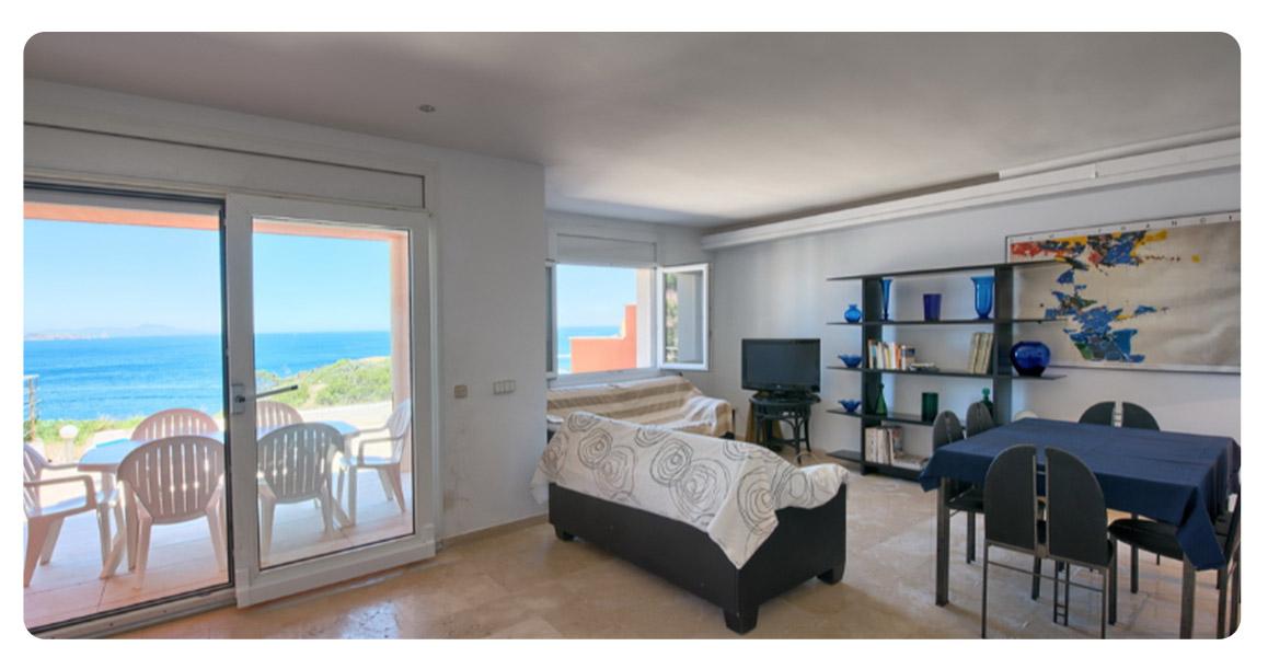 acheter appartement duplex begur vue mer salon 2