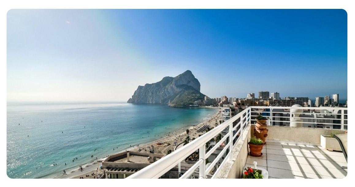 acheter appartement duplex calpe terrasse vue