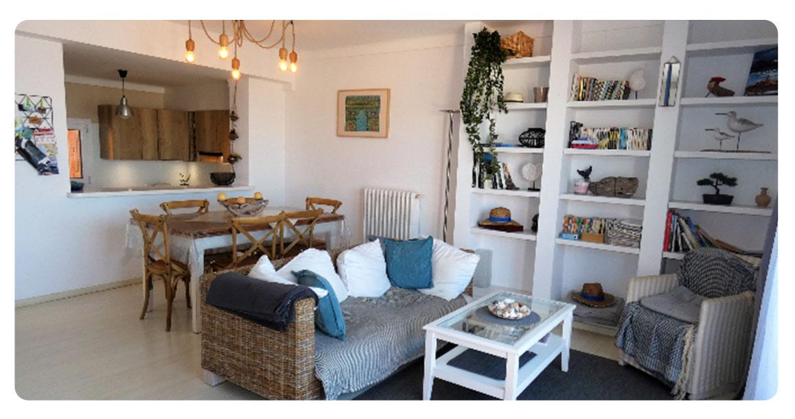 acheter appartement duplex roses empuriabrava salon