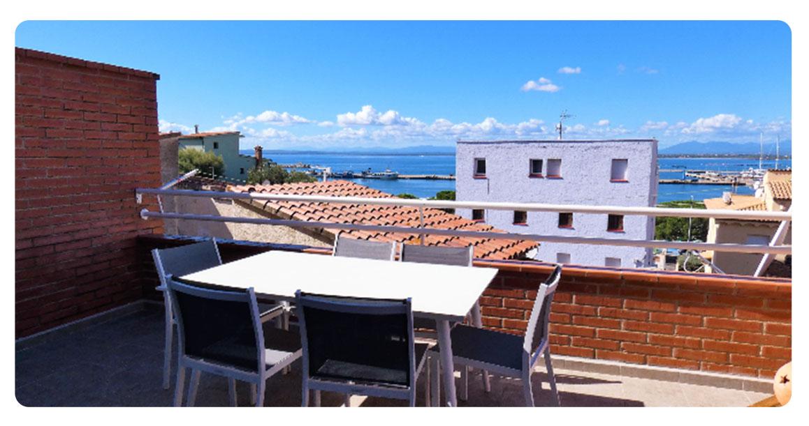 acheter appartement duplex roses empuriabrava terrasse