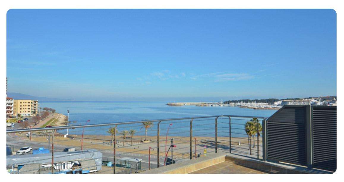 acheter appartement la escala plage de riells terrasse vue