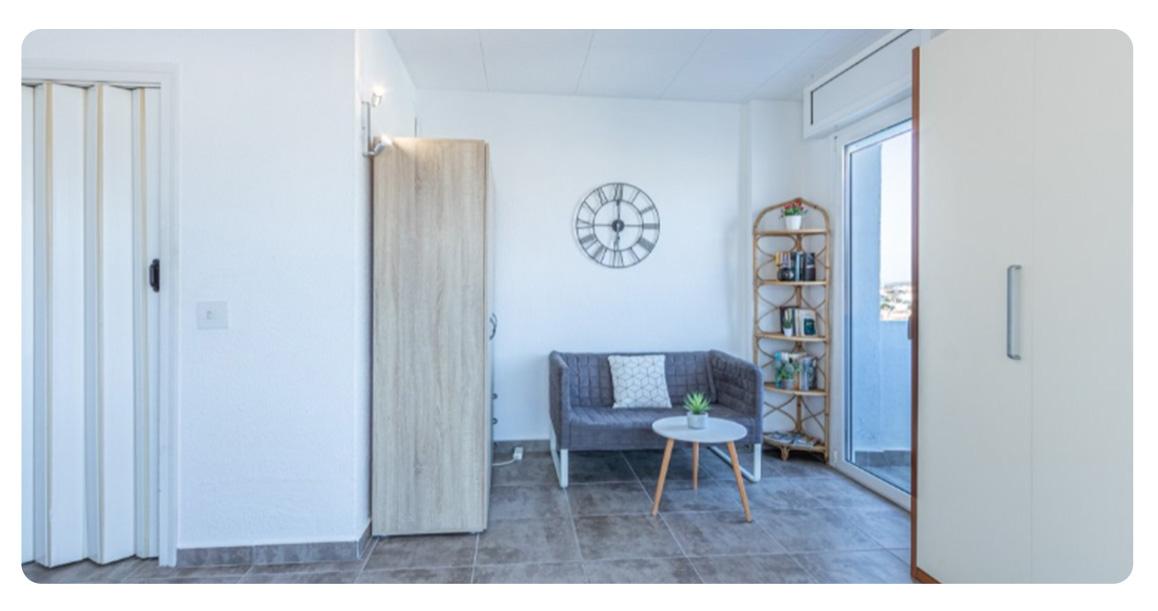 acheter appartement studio roses empuriabrava salon