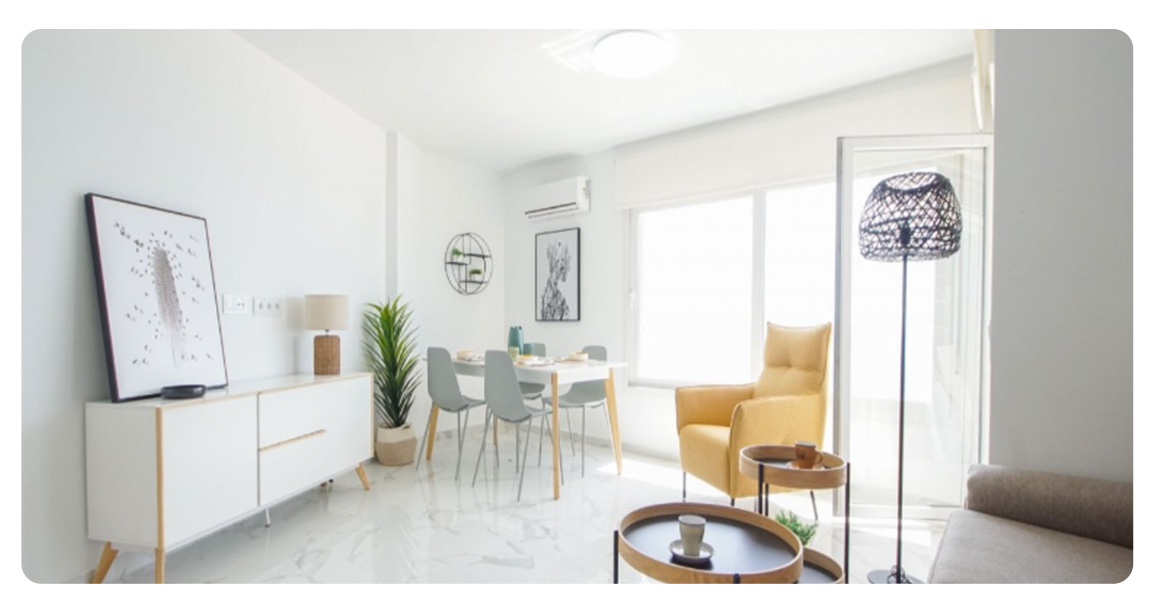 acheter appartement torrevieja pied de plage salon