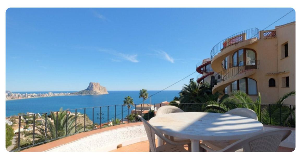 acheter maison calpe port terrasse vue