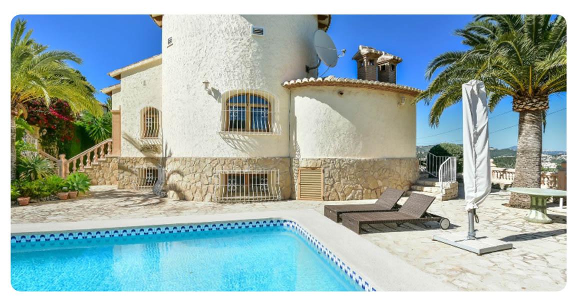 acheter maison grande calpe vue mer exterieur piscine