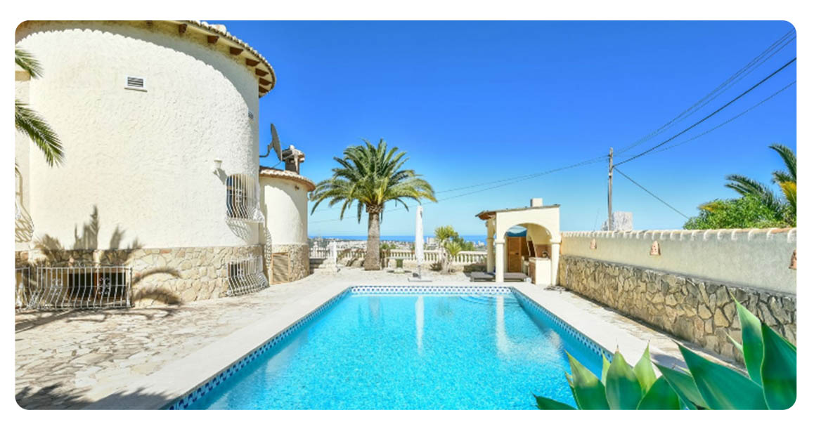 acheter maison grande calpe vue mer piscine