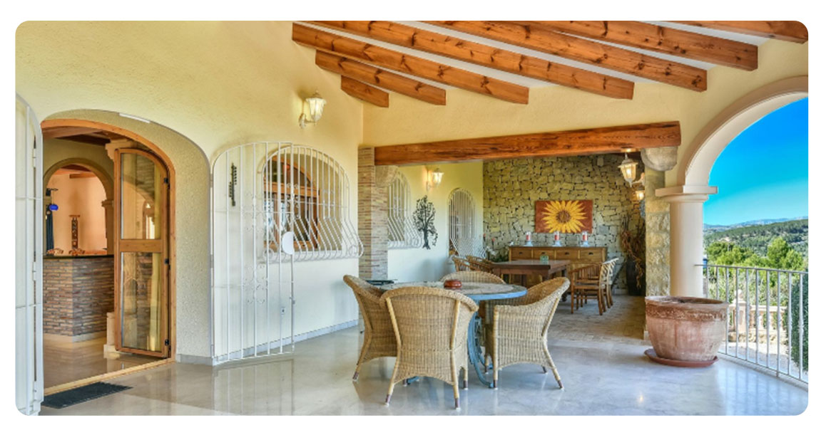 acheter maison grande calpe vue mer terrasse