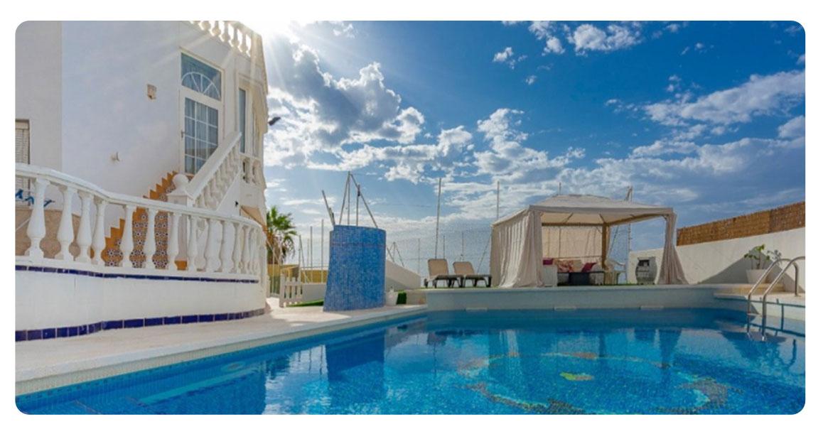 acheter maison magnifique roquetas de mar el puerto piscine