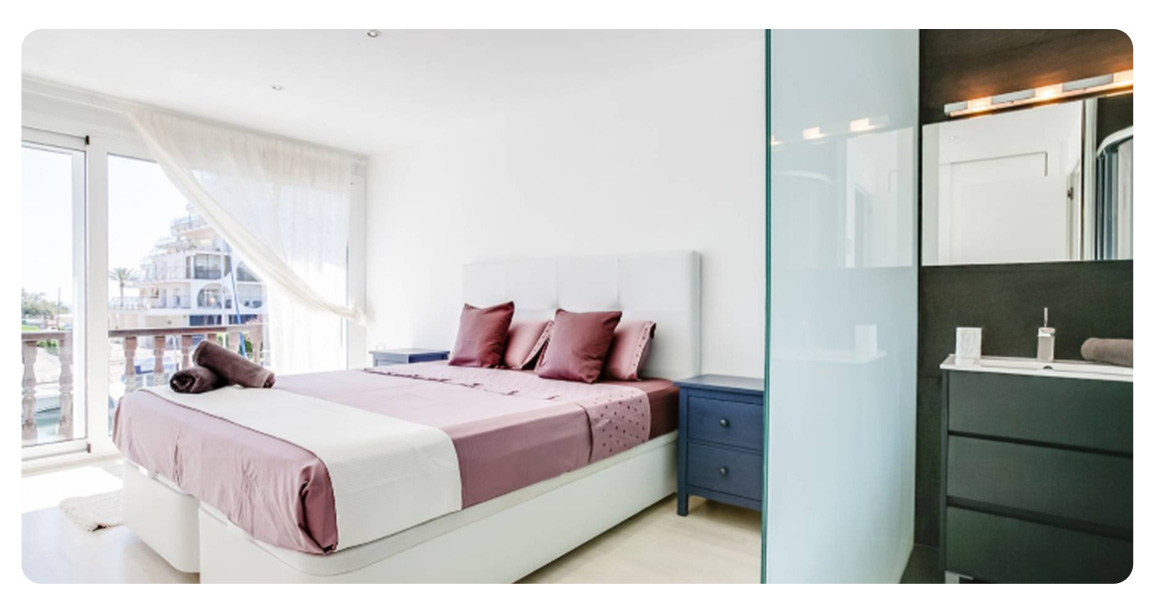 acheter maison mitoyenne roses empuriabrava chambre