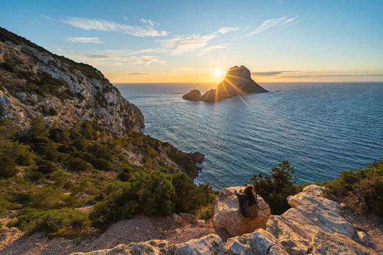 vue sur la mer à Ibiza