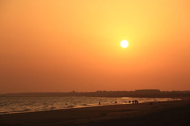 Coucher de Soleil sur la plage de Huelva