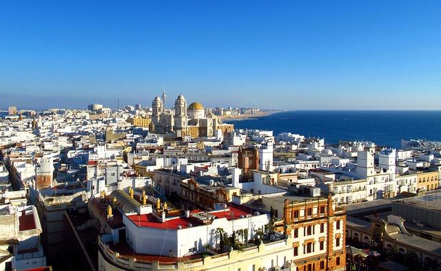 vue sur ville de Cadiz