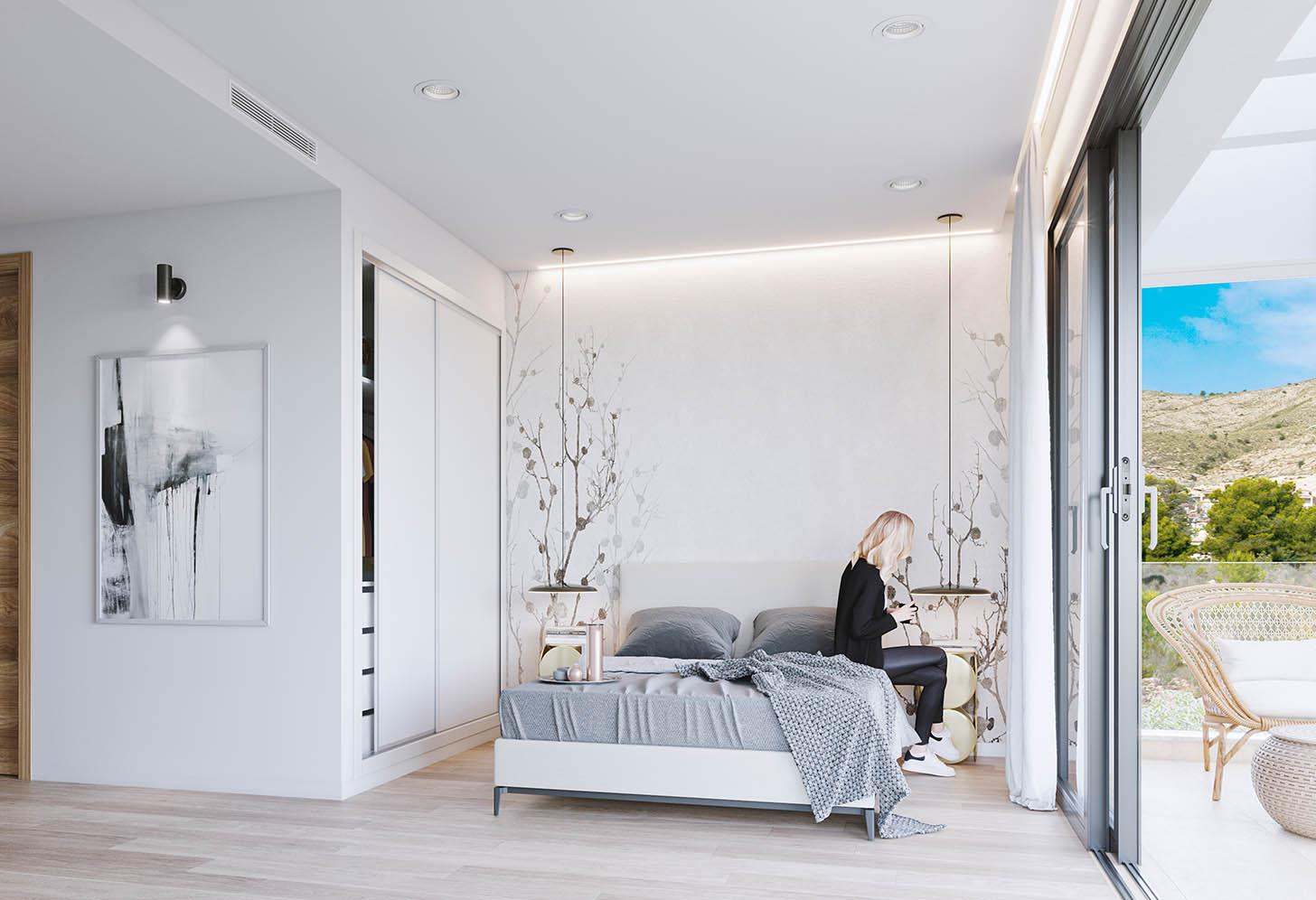 immobilier neuf espagne costa blanca nord finestrat chambre principal