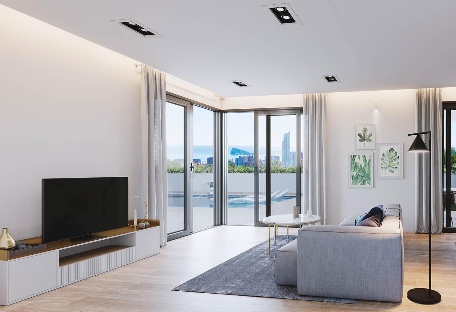 immobilier neuf espagne costa blanca nord finestrat salon